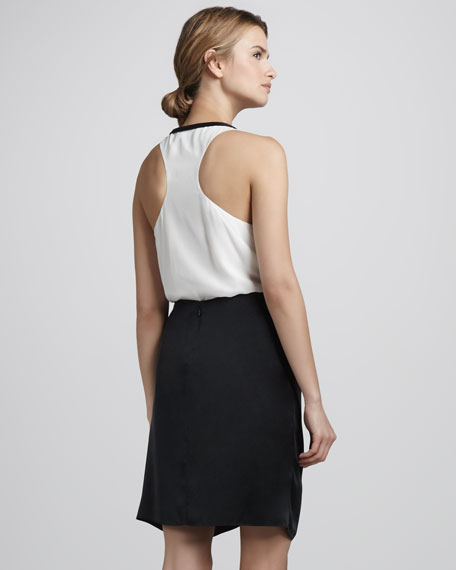 Femi Draped Silk Skirt