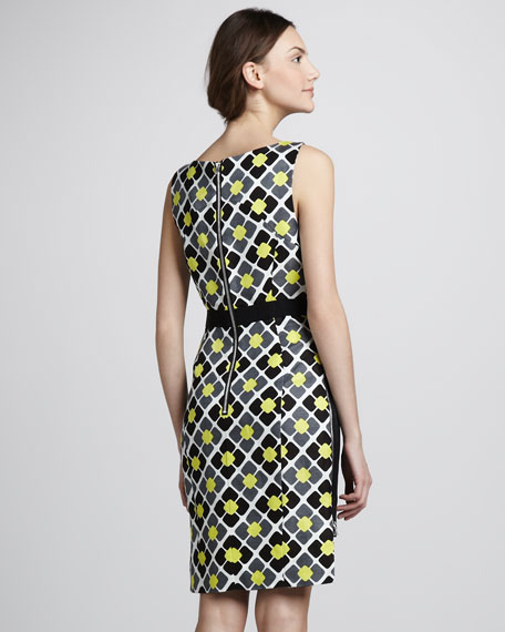 Print-Back Hi-Lo Dress