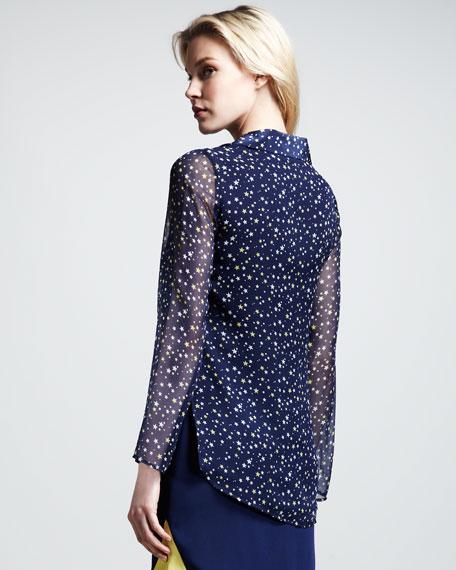 Alma Star-Print Blouse