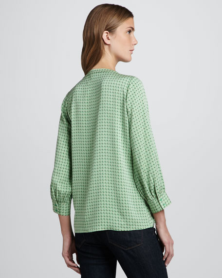 Aceline Printed Silk Top