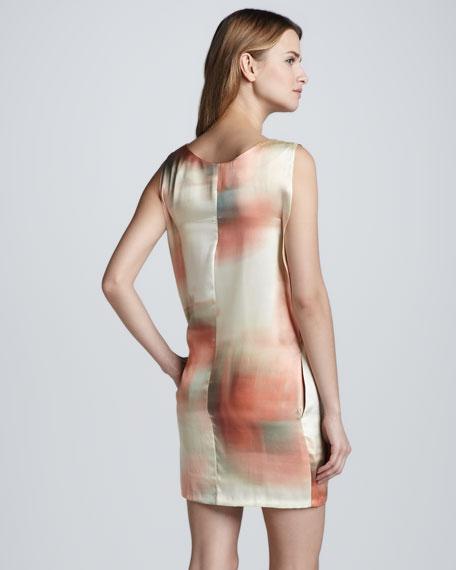 Leah Watercolor Shift Dress, Sunrise