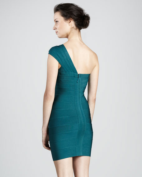 One-Shoulder Bandage Dress