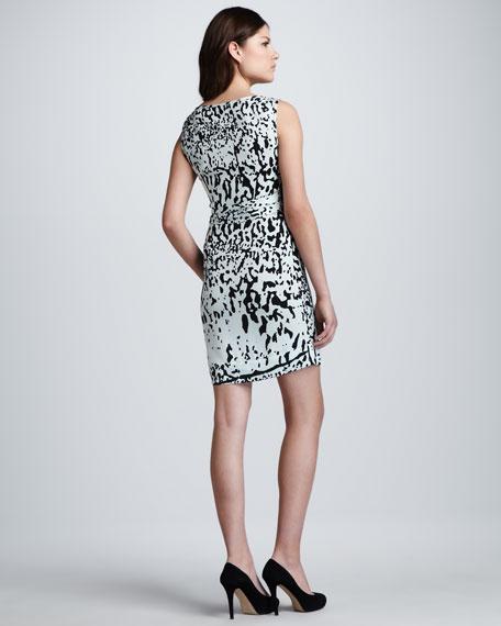 New Della Paint Splash Printed Dress