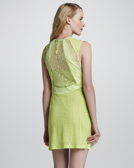 All Night Perforated Lace Dress