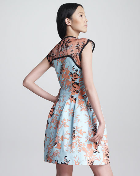 Bombastic Printed A-Line Dress