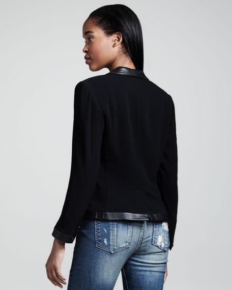 Epton Leather-Trim Blazer