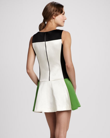 Sofia Colorblock Flounce Dress