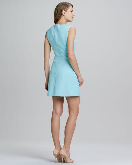 V-Neck Notch-Hem Sleeveless Dress