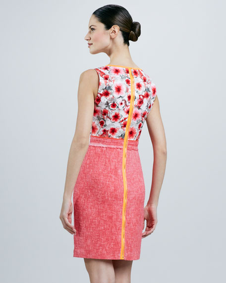 Marina Print/Solid Combo Dress