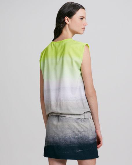 Tara Drop-Waist Ombre Dress