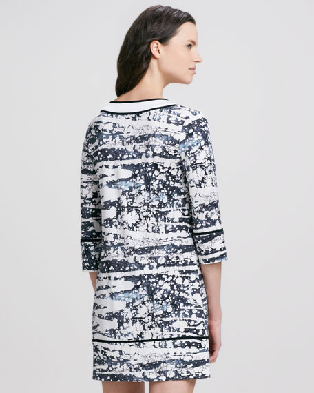 Barb Splash Print Dress