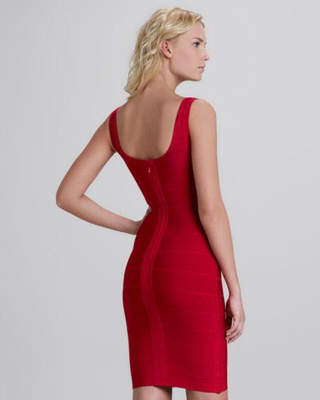 Sleeveless Scoop Neck Bandage Dress