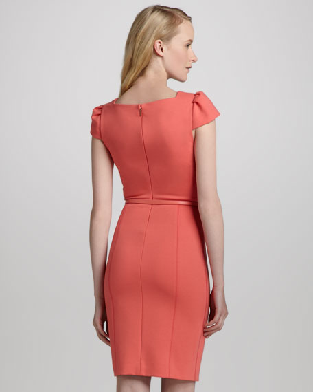 Heather Belted Sheath Dress