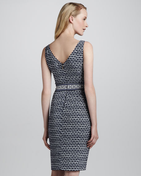 Piera Sleeveless Printed Sheath Dress