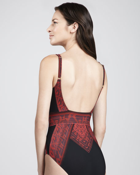 Indochine Printed One-Piece Swimsuit