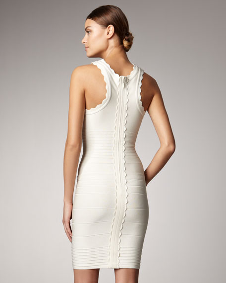 Scallop-Neck Bandage Dress