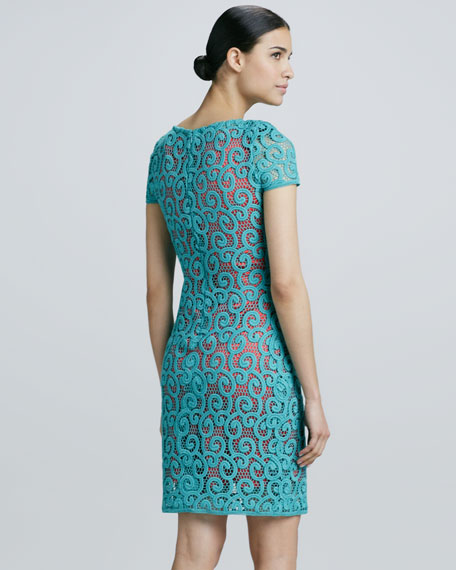 Lolly Scroll Lace Dress