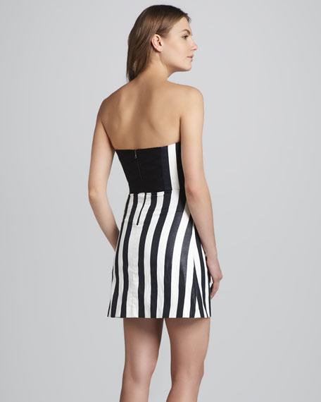 Nyla Striped Strapless Dress