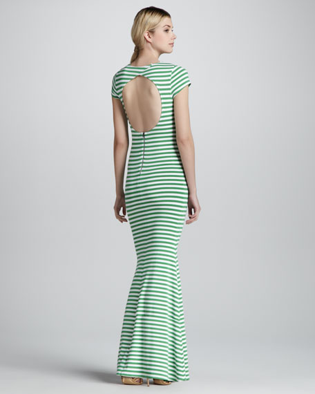 Orli Striped Open-Back Maxi Dress