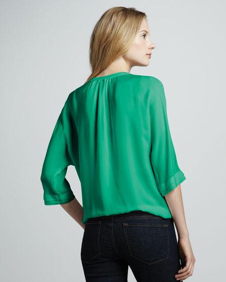 Marru Silk Tie-Back Top