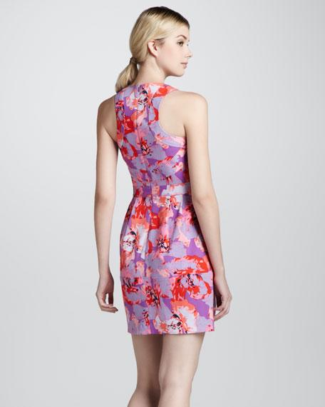 Paros Floral-Print Sleeveless Dress