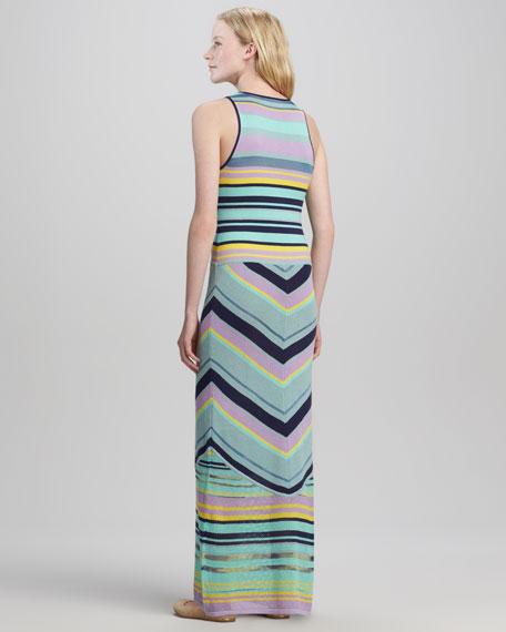 Issos Tambourine Mix-Stripe Maxi Dress