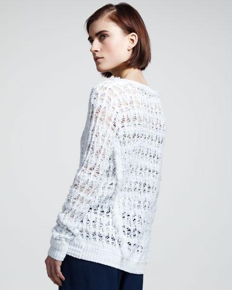 Vicky Open-Knit V-Neck Sweater