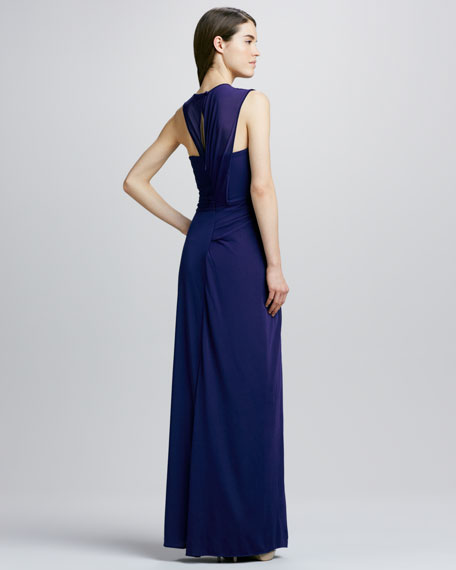 Sleeveless Gown with Drape