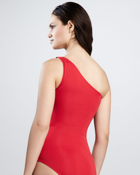 Living Safari One-Shoulder One-Piece