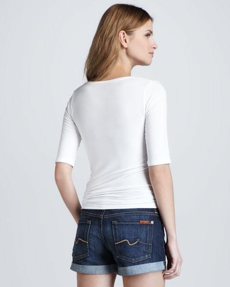 Roll-Up Jean Shorts, Nouveau NY Dark