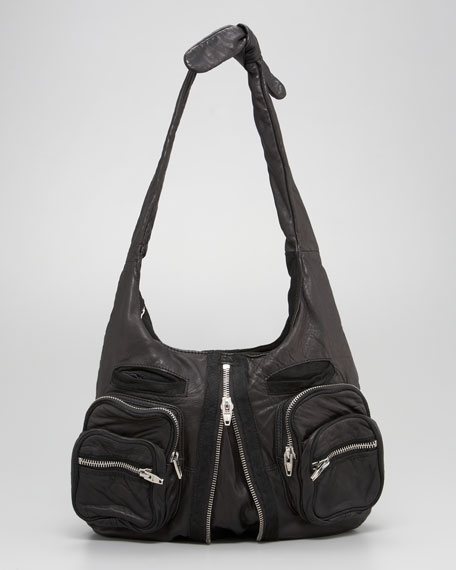 Donna Washed Leather Hobo