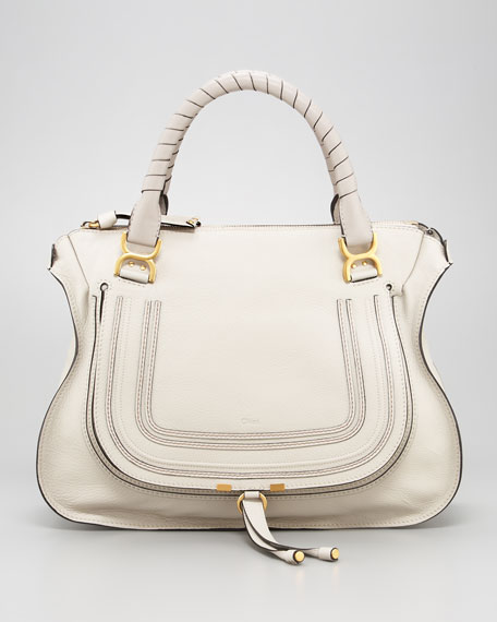 Marcie Large Shoulder Bag, Dove
