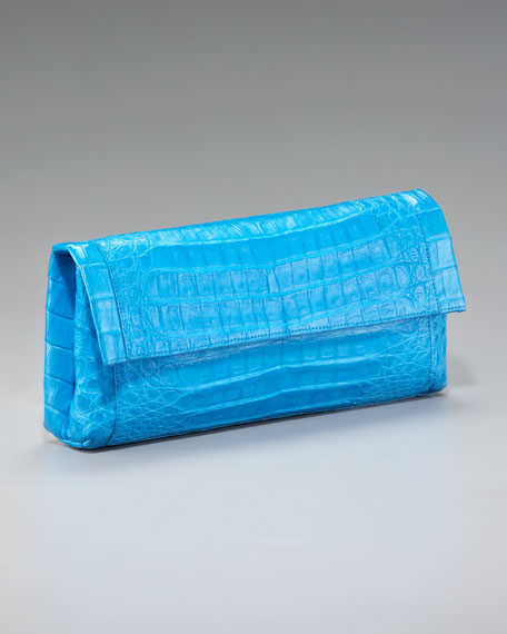 Crocodile Fold-Over Clutch