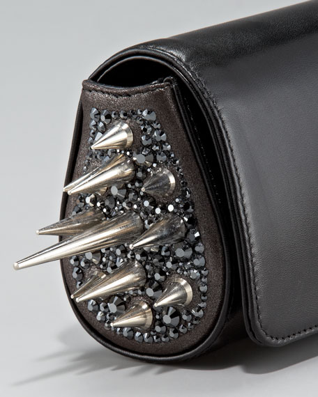 Spiked Marquise Clutch Bag