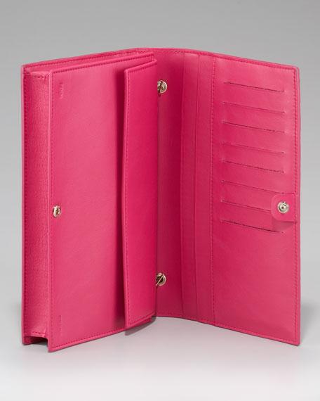 Zucca-Embossed Shoulder Wallet