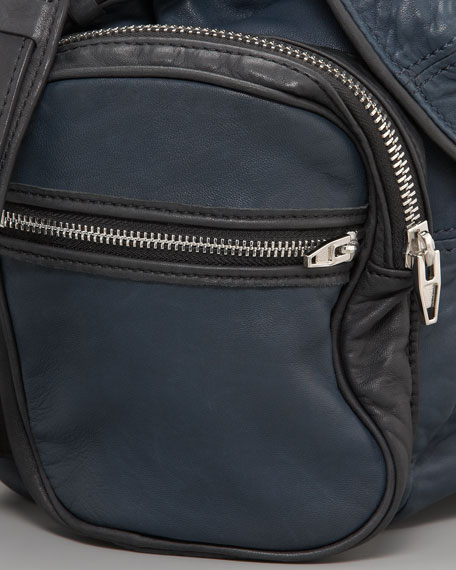 Marti Zippered Backpack, Two-Tone