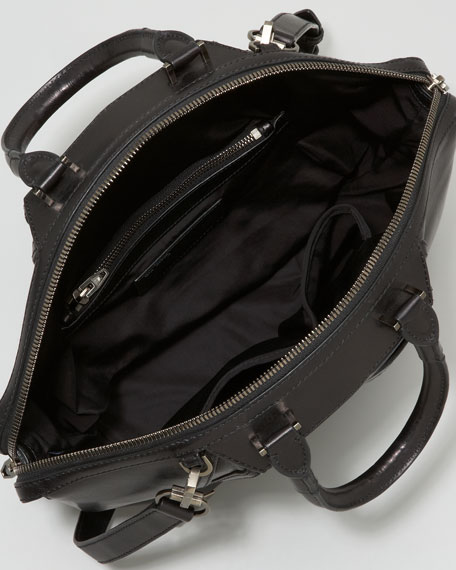 Emile Satchel Bag, Black