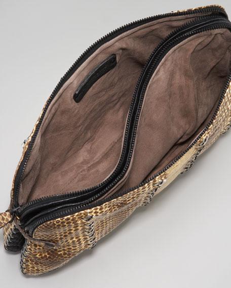 Snakeskin Clutch Bag
