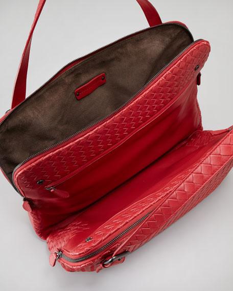 Woven Double-Compartment Shoulder Bag
