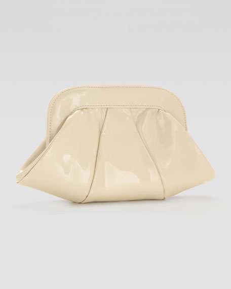 Lucy Pearl Patent Clutch Bag