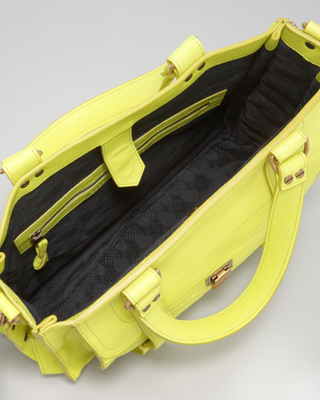 PS1 Leather Tote Bag, Citron