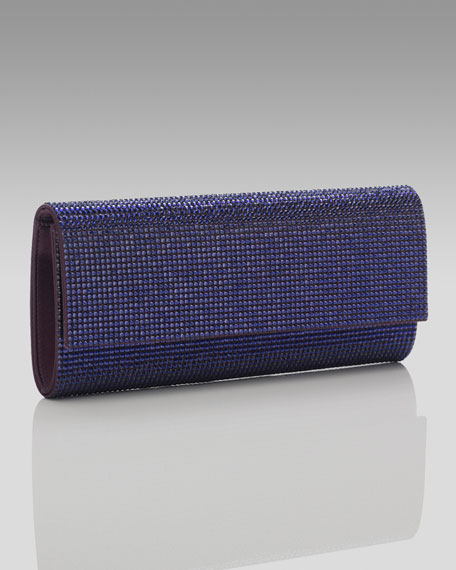 Ritz Fizz Clutch, Dark Indigo