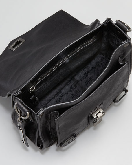 PS1 Leather Shoulder Pouch, Black