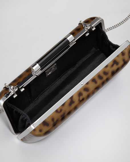Tonda Leopard-Print Clutch Bag
