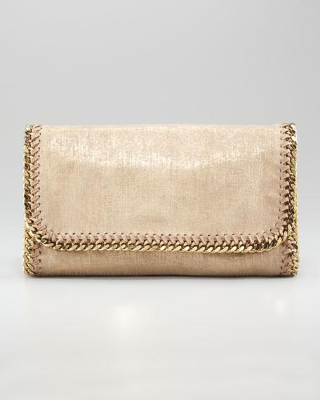 Falabella Metallic Clutch Bag