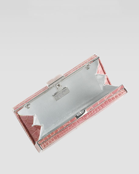 East-West Rectangle Clutch Bag, Peony