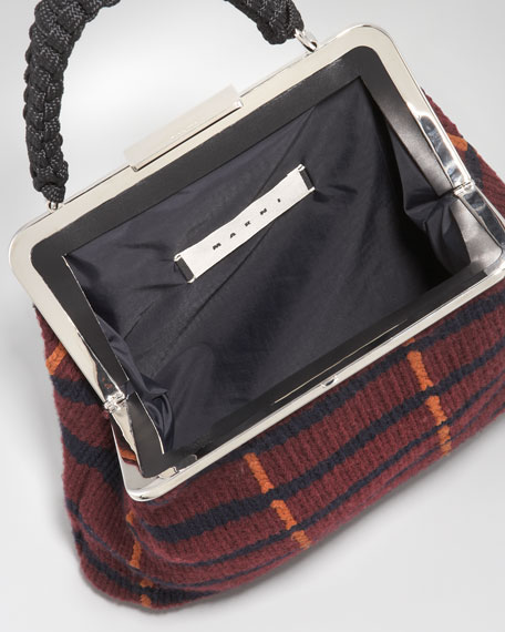 Cashmere Yarn Frame Bag