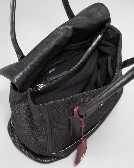 New Harper Laurel Tweed Tote Bag