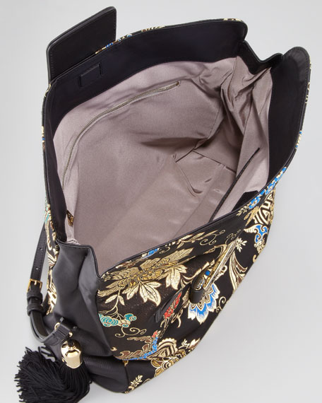 Ming Embroidered Hobo Bag