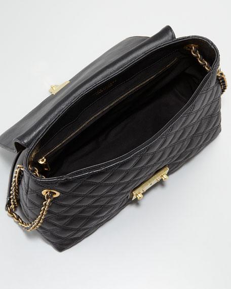 Single Baroque Hammered Shoulder Bag, Extra Large